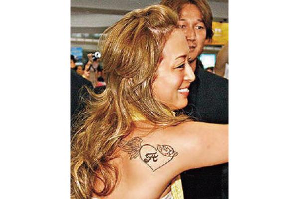 現在の浜崎あゆみのタトゥー