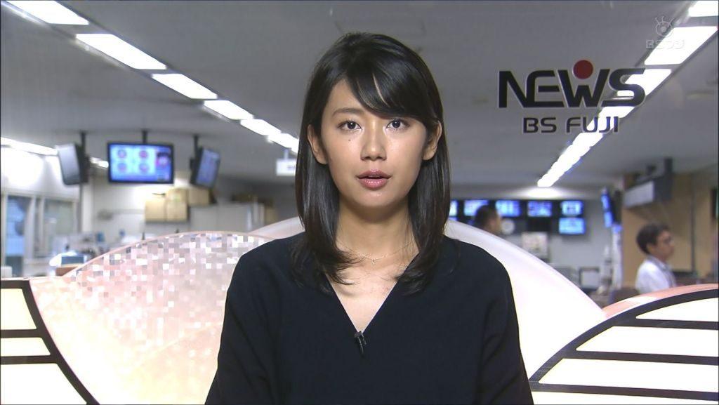 ニュース原稿を読む美人の新美有加
