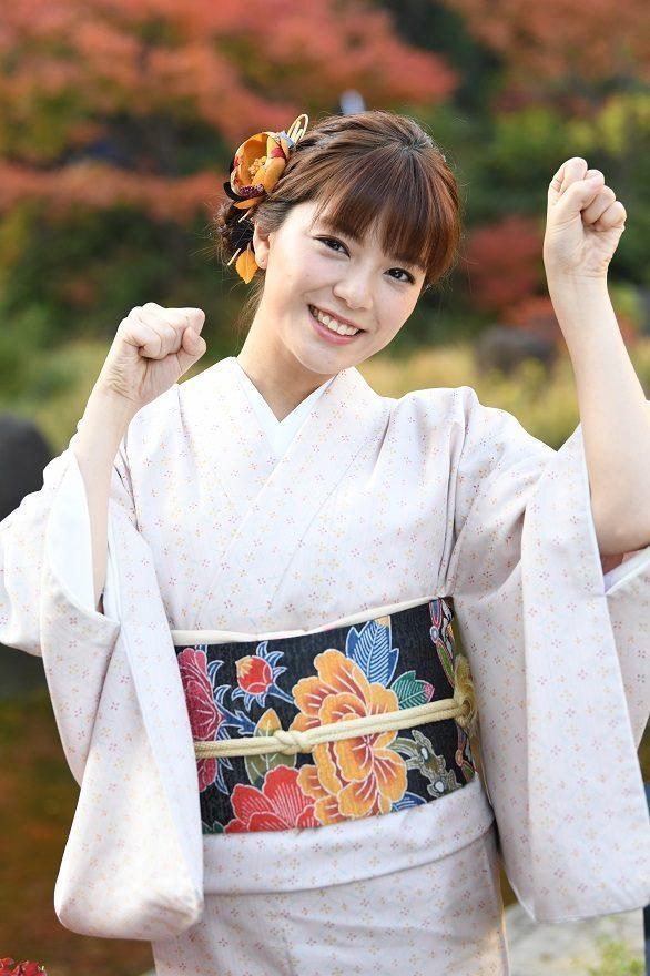 三谷紬の着物姿