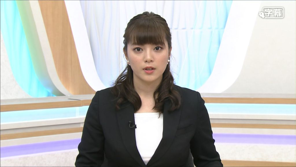 ニュースを読む三谷紬アナ